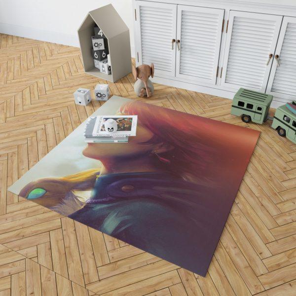 Nausicaä of the Valley of the Wind Movie Girl Red Hair Bedroom Living Room Floor Carpet Rug 2