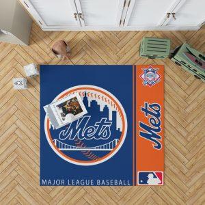 New York Mets MLB Baseball National League Floor Carpet Rug Mat 1
