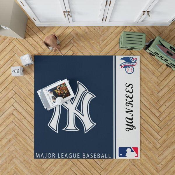 New York Yankees MLB Baseball American League Floor Carpet Rug Mat 1