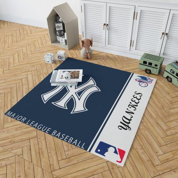 New York Yankees MLB Baseball American League Floor Carpet Rug Mat 2