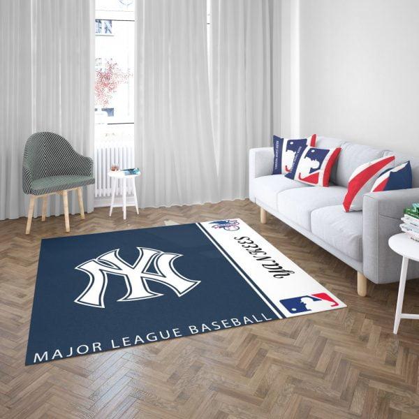 New York Yankees MLB Baseball American League Floor Carpet Rug Mat 3