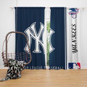 New York Yankees MLB Baseball American League Window Curtain