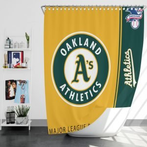 Oakland Athletics MLB Baseball American League Bath Shower Curtain