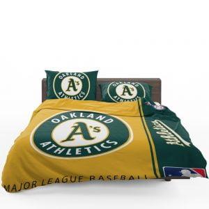 Oakland Athletics MLB Baseball American League Bedding Set 1