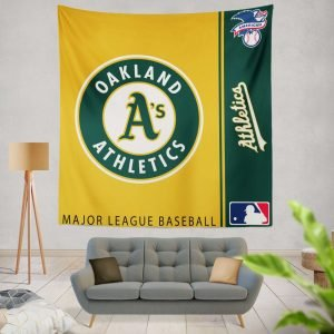 Oakland Athletics MLB Baseball American League Wall Hanging Tapestry