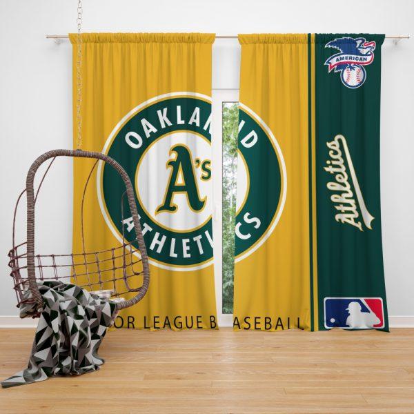 Oakland Athletics MLB Baseball American League Window Curtain
