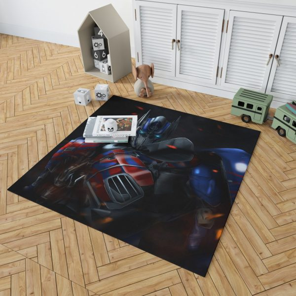 Optimus Prime Artwork Transformers Movie Bedroom Living Room Floor Carpet Rug 2