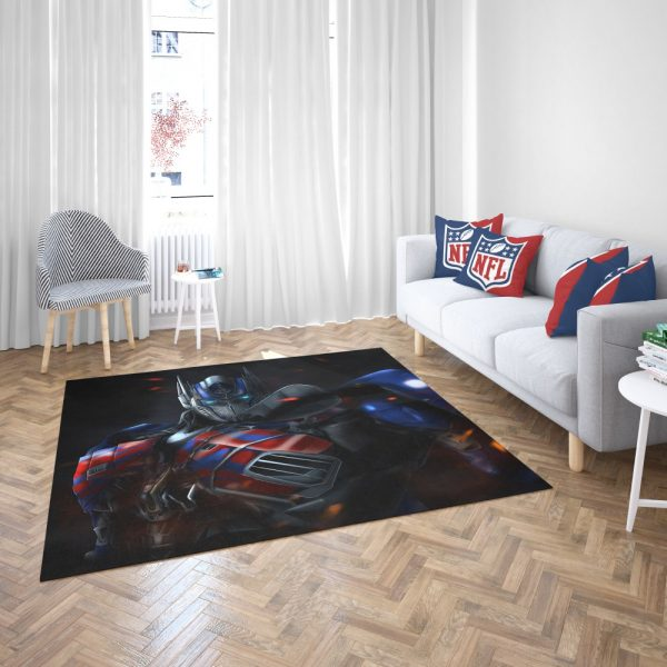 Optimus Prime Artwork Transformers Movie Bedroom Living Room Floor Carpet Rug 3