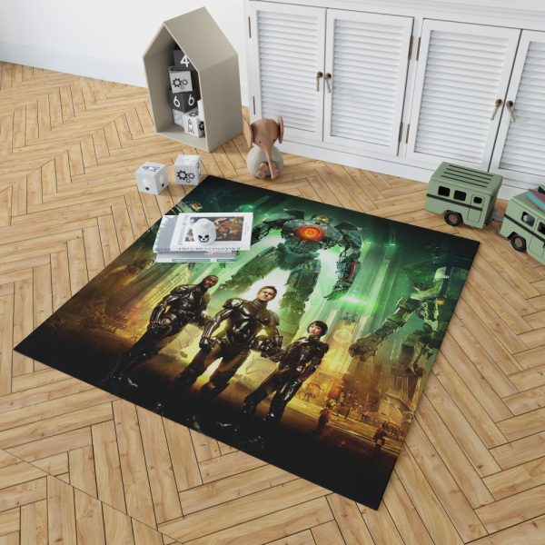 Pacific Rim Movie Stacker Pentecost Lambert Liwen Shao Bedroom Living Room Floor Carpet Rug 2