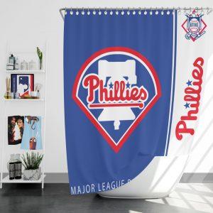 Philadelphia Phillies MLB Baseball National League Bath Shower Curtain