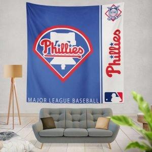 Philadelphia Phillies MLB Baseball National League Wall Hanging Tapestry