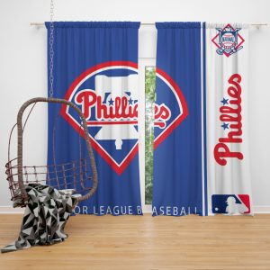 Philadelphia Phillies MLB Baseball National League Window Curtain