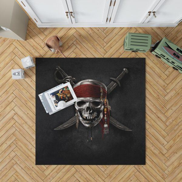 Pirates Of The Caribbean Movie Dead Skull Bedroom Living Room Floor Carpet Rug 1