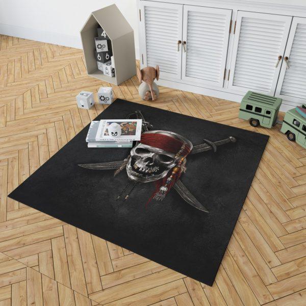 Pirates Of The Caribbean Movie Dead Skull Bedroom Living Room Floor Carpet Rug 2