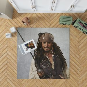 Pirates Of The Caribbean Movie Jack Sparrow Johnny Depp Bedroom Living Room Floor Carpet Rug 1