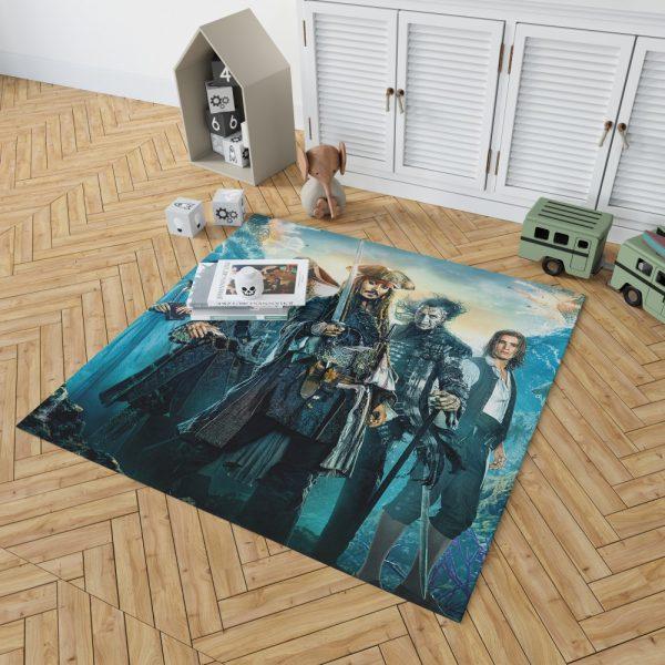 Pirates of the Caribbean Dead Men Bedroom Living Room Floor Carpet Rug 2