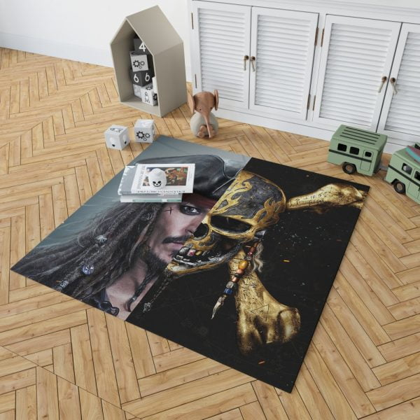 Pirates of the Caribbean Johnny Depp Bedroom Living Room Floor Carpet Rug 2