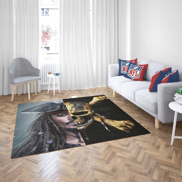 Pirates of the Caribbean Johnny Depp Bedroom Living Room Floor Carpet Rug 3