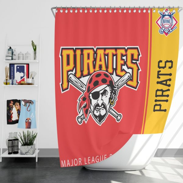 Pittsburgh Pirates MLB Baseball National League Bath Shower Curtain