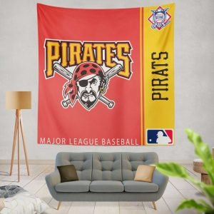 Pittsburgh Pirates MLB Baseball National League Wall Hanging Tapestry