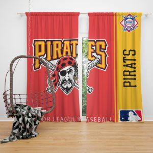 Pittsburgh Pirates MLB Baseball National League Window Curtain