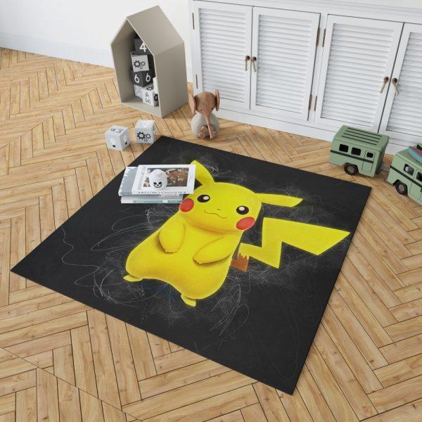 Pokémon Movie Pikachu Bedroom Living Room Floor Carpet Rug 2