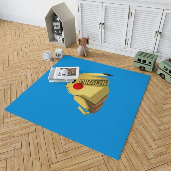 Pokémon Movie Pikachu Electric Pokemon Species Bedroom Living Room Floor Carpet Rug 2