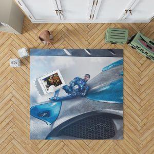 Power Rangers 2017 Movie Billy Cranston Blue Ranger Zord Bedroom Living Room Floor Carpet Rug 1