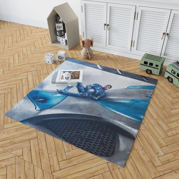 Power Rangers 2017 Movie Billy Cranston Blue Ranger Zord Bedroom Living Room Floor Carpet Rug 2