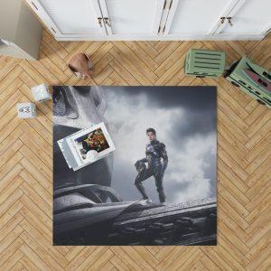 Power Rangers 2017 Movie Black Ranger Zack Taylor Zord Bedroom Living Room Floor Carpet Rug 1