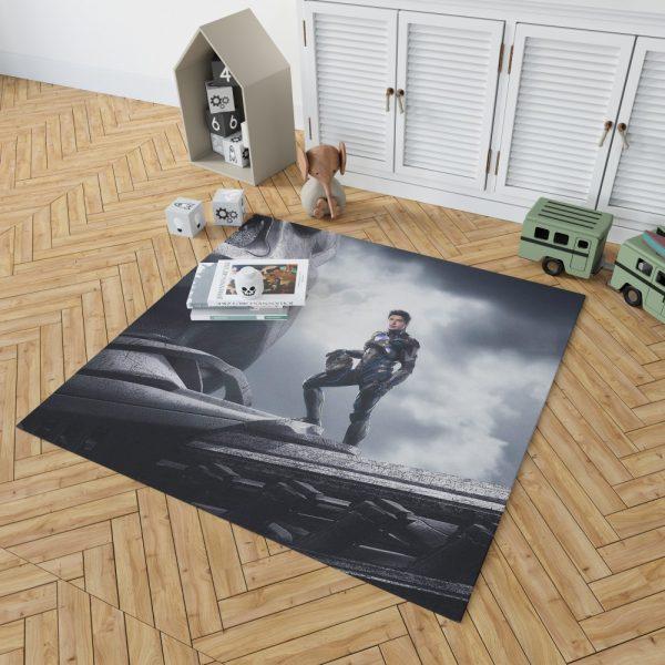 Power Rangers 2017 Movie Black Ranger Zack Taylor Zord Bedroom Living Room Floor Carpet Rug 2