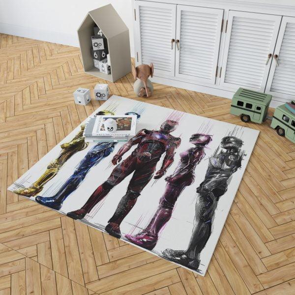 Power Rangers 5 Movie Bath Bedroom Living Room Floor Carpet Rug 2