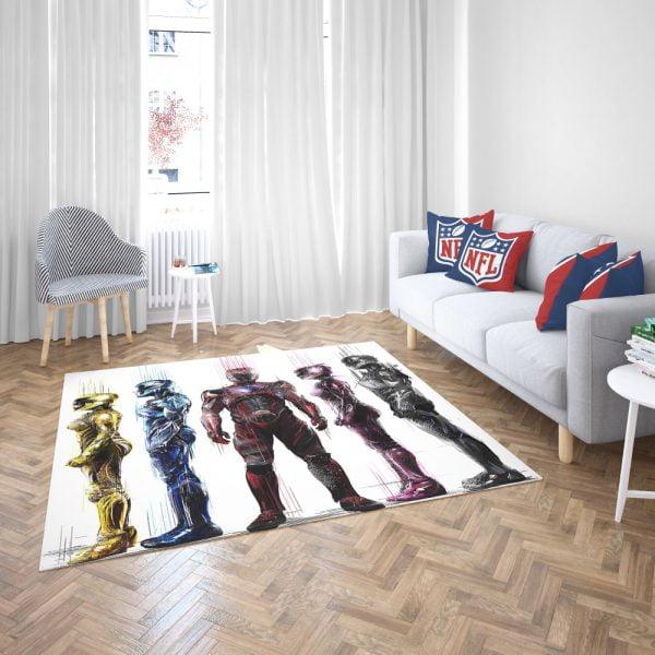 Power Rangers 5 Movie Bath Bedroom Living Room Floor Carpet Rug 3