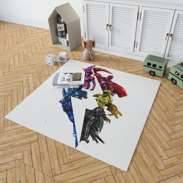 Power Rangers 5 Movie Bedroom Living Room Floor Carpet Rug 2