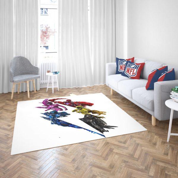 Power Rangers 5 Movie Bedroom Living Room Floor Carpet Rug 3