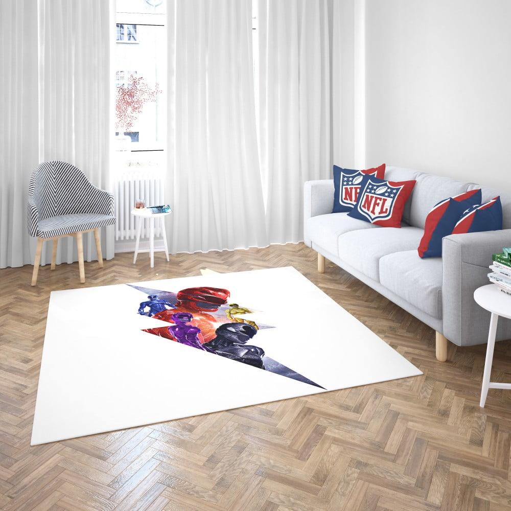 Power Rangers 5 Movie Themed Bedroom Living Room Floor