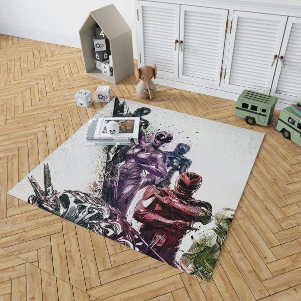 Power Rangers 5 Samurai Movie Themed Bedroom Living Room Floor Carpet Rug 2