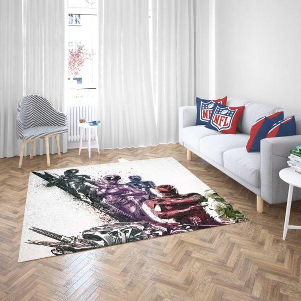 Power Rangers 5 Samurai Movie Themed Bedroom Living Room Floor Carpet Rug 3