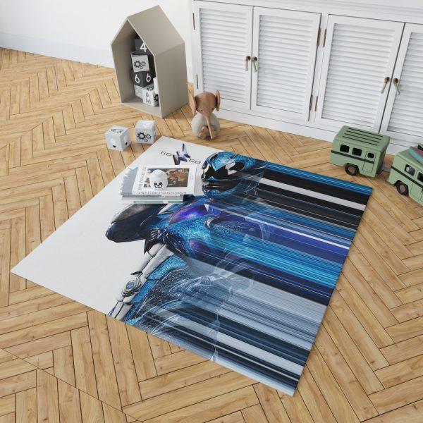 Power Rangers the Blue Ranger Bedroom Living Room Floor Carpet Rug 2
