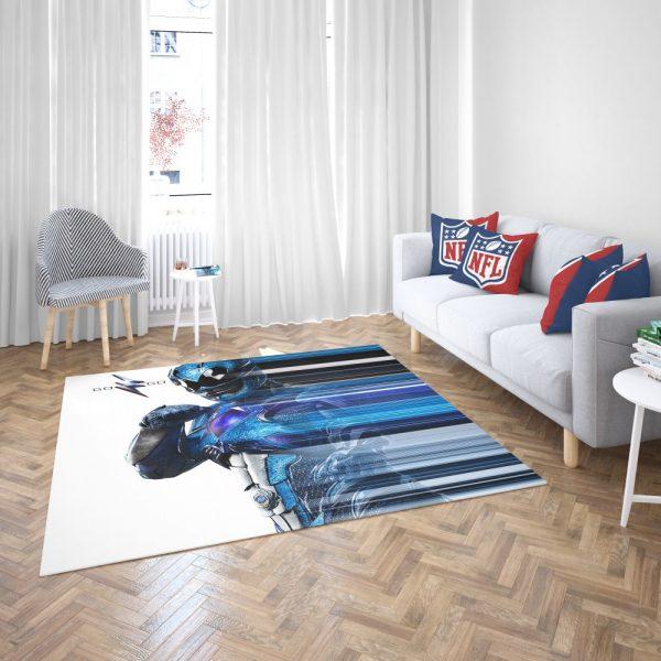 Power Rangers the Blue Ranger Bedroom Living Room Floor Carpet Rug 3