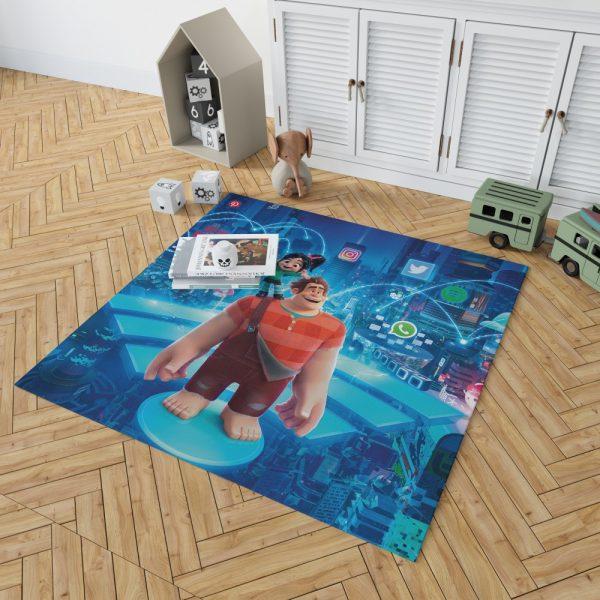 Ralph Breaks the Internet Movie Disney Vanellope von Schweetz Bedroom Living Room Floor Carpet Rug 2