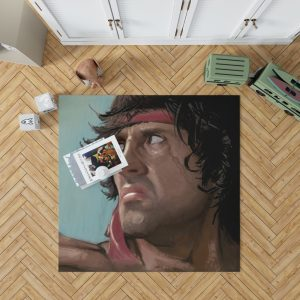 Rambo Movie Sylvester Stallone Bedroom Living Room Floor Carpet Rug 1