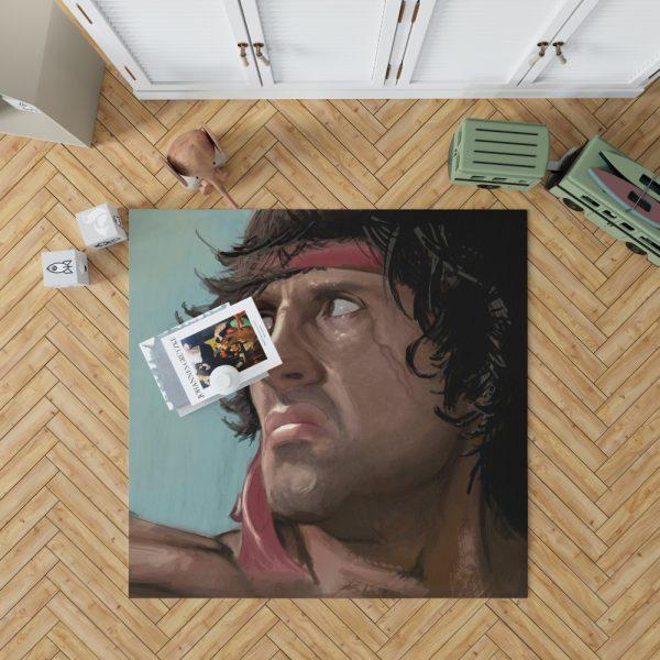 Rambo Movie Sylvester Stallone Bedroom Living Room Floor Carpet Rug 1