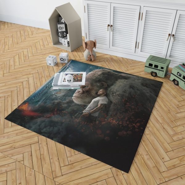 Rampage Dwayne Johnson Movie Bedroom Living Room Floor Carpet Rug 2