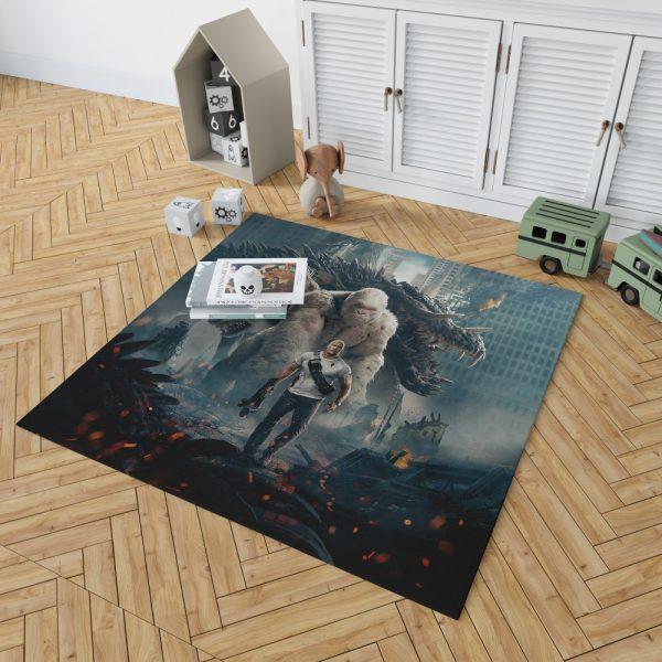 Rampage Dwayne Johnson White Gorilla Bedroom Living Room Floor Carpet Rug 2