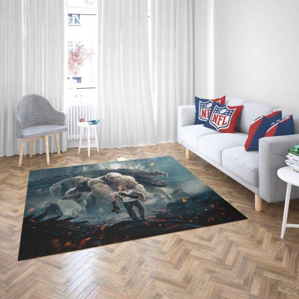Rampage Dwayne Johnson White Gorilla Bedroom Living Room Floor Carpet Rug 3