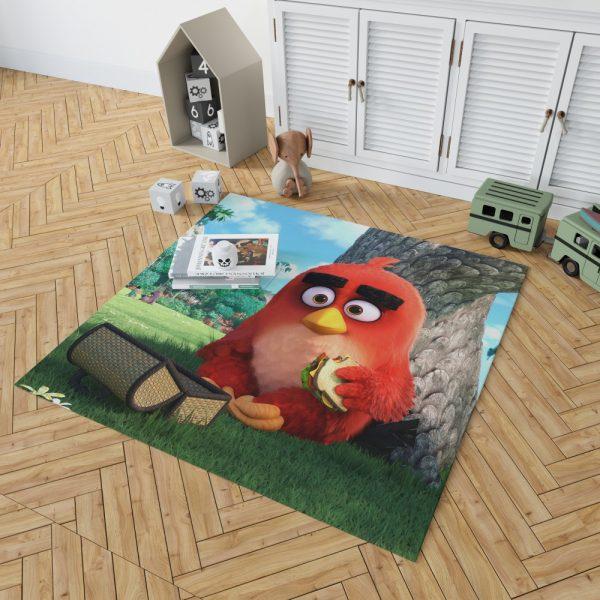 Red Angry Birds Movie Bedroom Living Room Floor Carpet Rug 2
