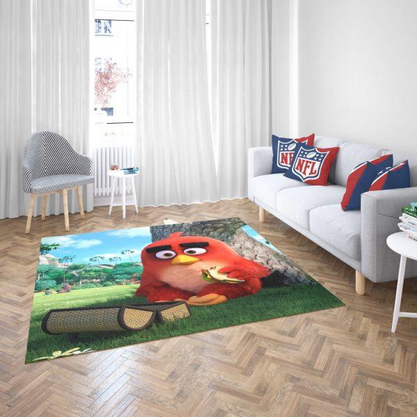 Red Angry Birds Movie Bedroom Living Room Floor Carpet Rug 3
