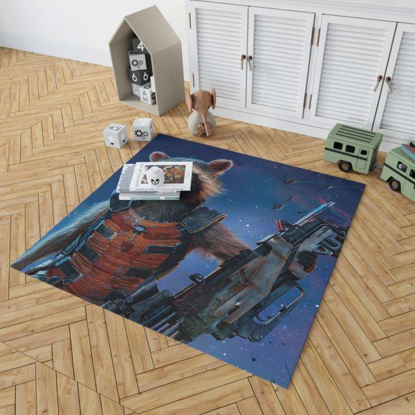 Rocket Raccoon Guardians of the Galaxy Bedroom Living Room Floor Carpet Rug 2