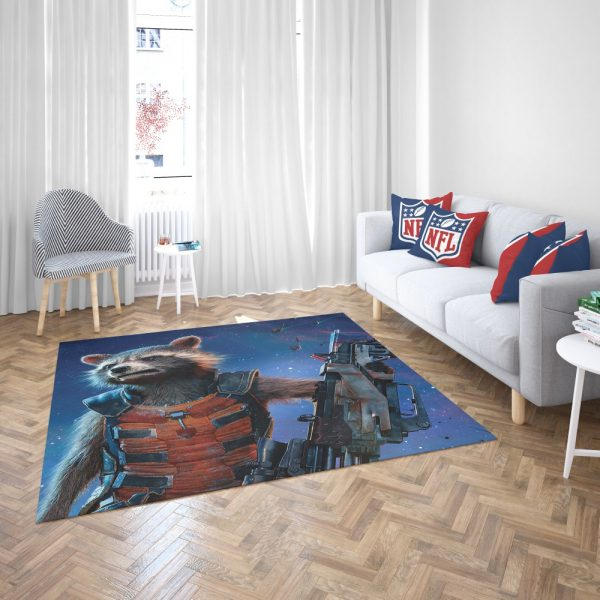 Rocket Raccoon Guardians of the Galaxy Bedroom Living Room Floor Carpet Rug 3